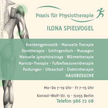 Physiotherapie Rehabilitation Massagen Krankengymnastik