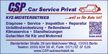 kfz meisterbetrieb c s p car service privat 13053 berlin. Black Bedroom Furniture Sets. Home Design Ideas