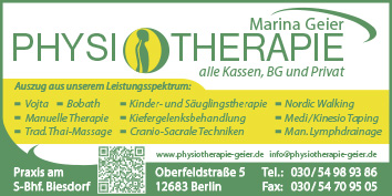 physiotherapie marina geier 12683 berlin marzahn biesdorf wegweiser aktuell. Black Bedroom Furniture Sets. Home Design Ideas