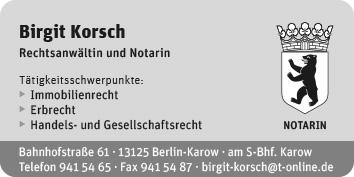 rechtsanw ltin und notarin birgit korsch 13125 berlin. Black Bedroom Furniture Sets. Home Design Ideas