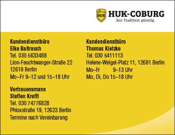 huk coburg versicherungen kundendienstb ro elke 12619. Black Bedroom Furniture Sets. Home Design Ideas