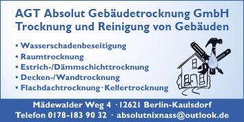 Gebäudetrocknung Berlin agt absolut gebäudetrocknung gmbh 12621 berlin hellersdorf kaulsdorf