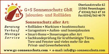 G S Sonnenschutz Gbr 15366 Neuenhagen Umland Ost