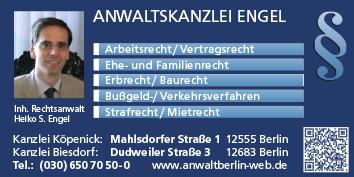Verkehrsrecht Berlin Köpenick Wegweiser Aktuell