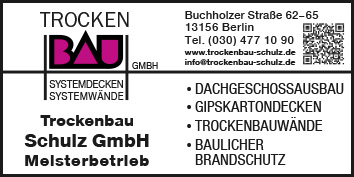 Trockenbau Berlin Pankow Wegweiser Aktuell