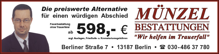Bestattungen Berlin Wilhelmsruh Wegweiser Aktuell