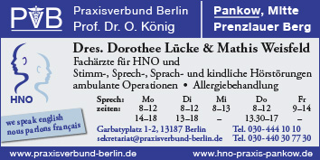 Hals Nasen Ohrenheilkunde Hno Arzt Berlin Franz Sisch