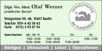 dipl vet med olaf werner 10437 berlin prenzlauer berg wegweiser aktuell. Black Bedroom Furniture Sets. Home Design Ideas
