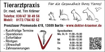 Tier Rzte Tierkliniken Tierarzt Berlin Karow Wegweiser