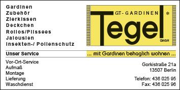 Gt Gardinen Tegel Gmbh 13507 Berlin Reinickendorf Tegel