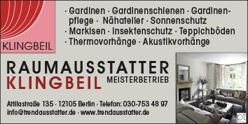 Raumausstatter gardinen dekorationen  Raumausstatter, Gardinen und Dekorationen Berlin Steglitz ...