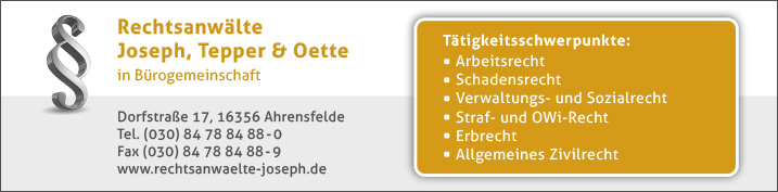 Rechtsanwälte Notare Patentanwälte Berlin Marzahn Wegweiser Aktuell
