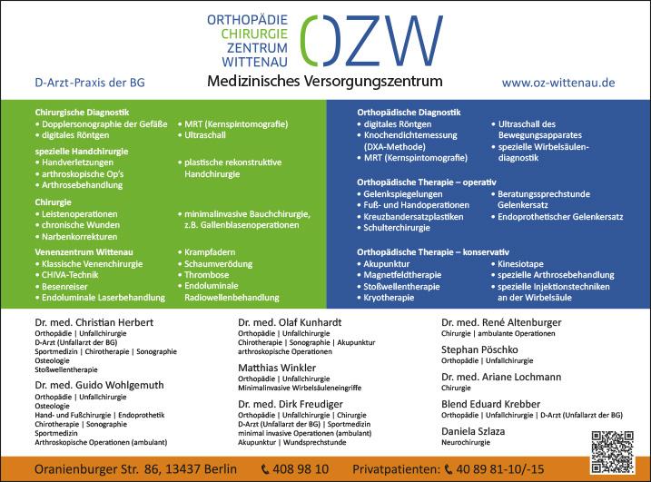 Neurochirurgie Berlin Reinickendorf Wegweiser Aktuell
