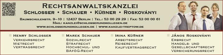 Rechtsanwälte Notare Patentanwälte Berlin Baumschulenweg