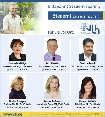 Lohnsteuerhilfe Berlin Reinickendorf Wegweiser Aktuell