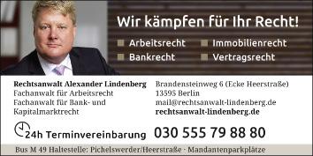 Alexander Lindenberg Rechtsanwalt 13595 Berlin Spandau Wegweiser