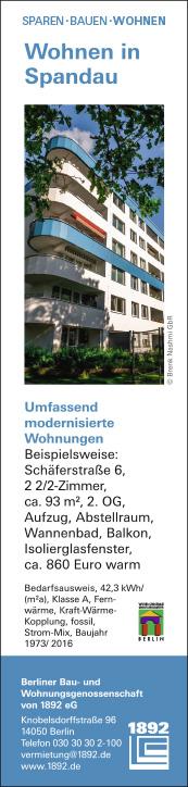 Wohnungsgenossenschaft Berlin Spandau Wohnen In Berlin Spandau