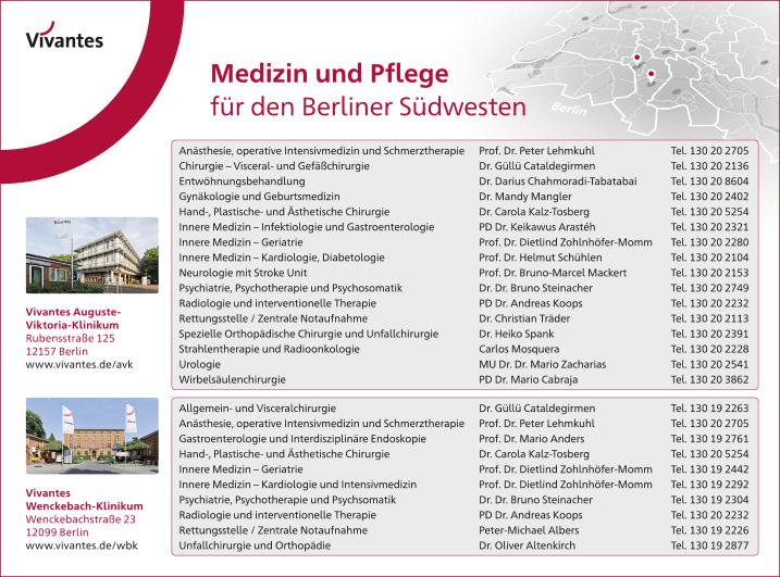 krankenh228user und kliniken berlin tempelhof wegweiser