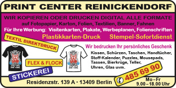 Print Center Reinickendorf 13409 Berlin Reinickendorf