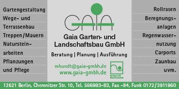 Gartenbau Gartengestaltung Und Baumpflege Berlin Spandau Wegweiser Aktuell
