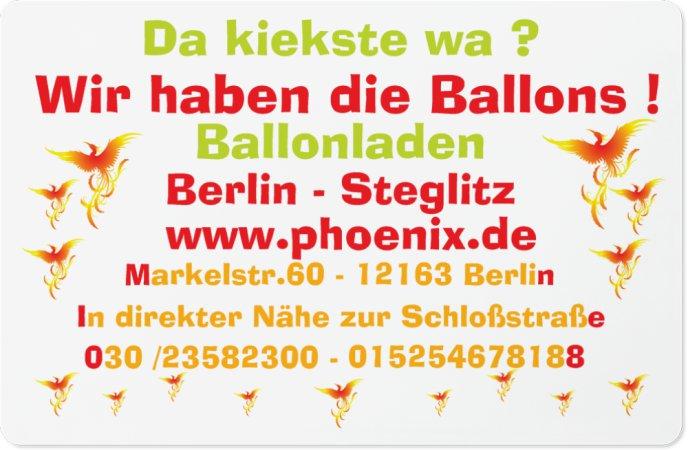 phoenix ballons 12163 berlin steglitz wegweiser aktuell. Black Bedroom Furniture Sets. Home Design Ideas